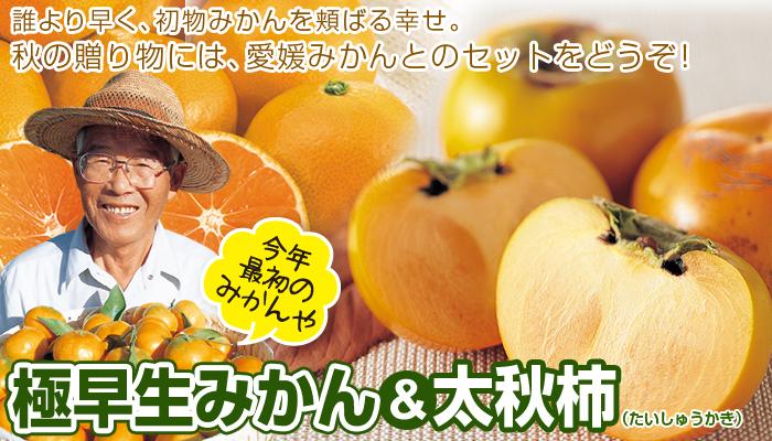 極早生みかんと太秋柿