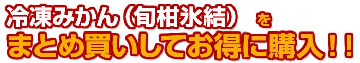 「冷凍みかん(旬柑氷結)」をまとめ買いしてお得に購入
